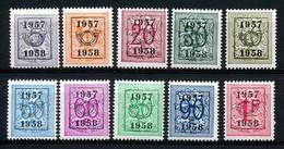 PRE 666/675 - MNH**  - Cote  21,00 € - Typo Precancels 1951-80 (Figure On Lion)