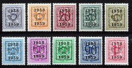 PRE 676/685 - MNH**  - Cote  21,00 € - Typo Precancels 1951-80 (Figure On Lion)