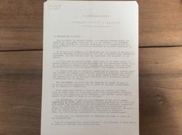 Tract : CGT Société Générale - Les Tueurs Dans L'usine à Reims -1977 - Historische Documenten