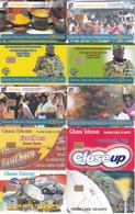 10 Télécartes GHANA Lot1 - Ghana