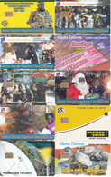 10 Télécartes GHANA Lot2 - Ghana