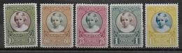 LUXEMBOURG - YVERT N°209/213 * MLH - COTE = 6.5 EUROS - - Neufs