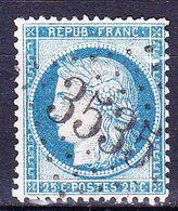 France-Yv 60C, GC 3535 St Calais (71) - Marcophilie (Timbres Détachés)