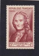 FRANCE 1953 - YT N°947 - 15 F. + 4 F. Brun Carminé - JP Rameau - Célébrités Du XII Au XXe Siècle - Neuf** - TTB Etat - Unused Stamps