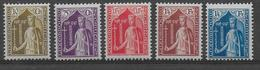 LUXEMBOURG - YVERT N°239/243 * MLH - COTE = 47.5 EUROS - ANNEE COMPLETE 1932 - Neufs