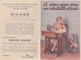 5 Documents Compagnie Singer Machines à Coudre Toulouse Albi Seuriac Tarn - Voir Description - 6 Scan - France