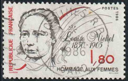 France 1986 Yv. N°2408 - Louise Michel - Oblitéré - Gebraucht