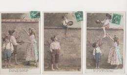 27955 Lot 5 Cpa 1910  Nid Fauvettes Melodie Berouin -enfant Child Fillette -oiseau -Croissant Paris 3591  Sazerac - - Vogels