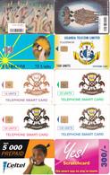 10 Télécartes OUGANDA Lot4 - Ouganda