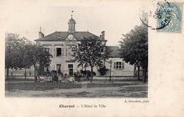 CPA   -  18 - CHAROST - L'Hôtel De Ville - France