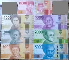 Indonesia 1000,2000,5000,10000,20000,500000,100000rupee, 7pcs UNC - Indonesien