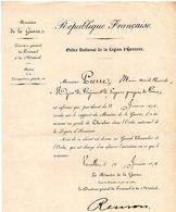 """-MILITAIRE--.""""Titre D'un Major Du Régiment De Sapeurs-Pompiers De PARIS"""". - Documents Historiques"""