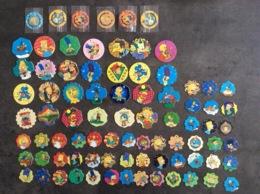 Lot Van 82 X  Flippo Clippo Pogs Caps Croky Simpsons 1996  - 1997 - Simpsons