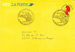 Enveloppe Jaune Essai Isère Liberté 1985 Le Petit Anjou Angers Maine Loire - PAP:  Varia (1995-...)