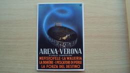 VENETO CARTOLINA ILLUSTRATA PUBBLICITARIA ARENA DI VERONA 1950 - Verona