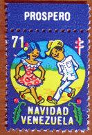 1971 VENEZUELA Navidad Danza  Campagna ANTI TBC Cindarella Vignetta Erinnofilo - Nuovo - Venezuela