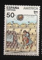 Espagne España 1989 N° 2650 ** UPAE, Union Postale, UPU, Irrigation, Agriculture, Maïs, Culture Inca, Soleil, Pérou, Eau - 1981-90 Ungebraucht