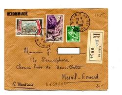 Lettre Recommandée Paris 68 Sur Moisson Kerrata Bourboule - Marcophilie (Lettres)