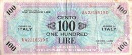 Italy 100 Lire, P-M21c (1943A) - Fine - Ocupación Aliados Segunda Guerra Mundial