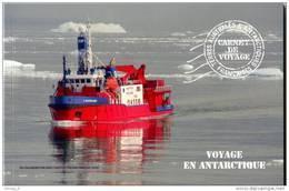 """TAAF 2013 - Carnet De Voyage """"Voyage En Antarctique"""" 16 Timbres Détachables Et 18 Photos Sur Papier Glacé - Boekjes"""