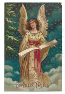 Ange Sur Un Nuage. Robe Dorée, Ceinture Et Livre. - Anges