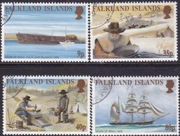 FALKLAND ISLANDS 1999 SG #854-58 Compl.set+m/s Used California Goldrush - Falkland