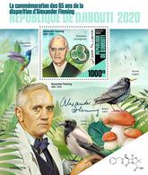 DJIBOUTI 2020 - A. Fleming, Starling S/S. Official Issue [DJB200103b] - Uccelli Canterini Ed Arboricoli