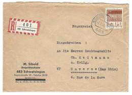 SCHWETZINGEN - Einschreiben - 2.9.1968 - Autres