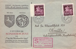 BÖHMEN & MÄHREN - RECO 10.1.1943 MÄHRISCH OSTRAU TAG DER BRIEFMARKE /ak783 - Bohême & Moravie