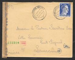 1944 TERZO REICH LUDVIGSHAFEN TO SVIZZERA - Allemagne