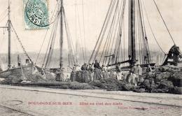 CPA - 62 - BOULOGNE-SUR-MER - Mise En état Des Filets De Pêche - Boulogne Sur Mer