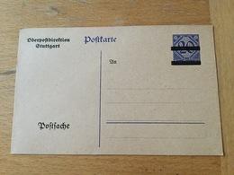 KS2 Deutsches Reich Ganzsache Stationery Entier Postal Ehemals DP 2 Mit Überdruck OPD Stuttgart - Allemagne