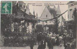 ARNAY-le-DUC (21). Grandes Fêtes Des 14-15-16 Septembre 1912. Place Sadi-Carnot. Kiosque à Musique. Quincaillerie - Arnay Le Duc