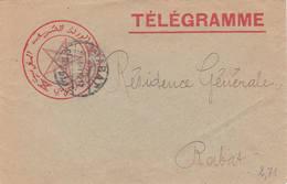 Télégramme Rabat 1912 Etoile Star - Lettres & Documents