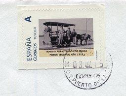 Timbre Personnalisé Espagne - Tranvia Arrastrado Por Mulas POTOSI (Bolivia) 1912 - Strassenbahnen