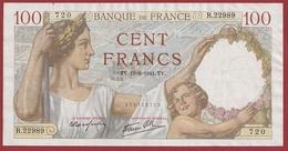 "100 Francs ""Sully"" Du 19/06/1941.TV----TTB+----ALPH.R.22989 - 1871-1952 Circulated During XXth"