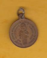 Médaille Ronde En Cuivre - L'Enfant Jésus Miraculeux Des Carmélites De Beaune (21) - Religion - Religion & Esotérisme