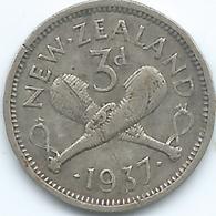 New Zealand - 1937 - George VI - 3 Pence - KM7 - Nieuw-Zeeland