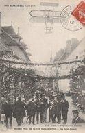ARNAY-le-DUC (21). Grandes Fêtes Des 14-15-16 Septembre 1912. Rue Saint-Honoré. Dessin D'avion - Arnay Le Duc