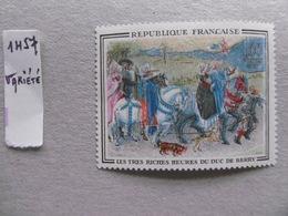 FRANCE 1965  No YT  1457c * *   LES TRES RICHES HEURES DU DUC DE BERRY  VARIETE DECALAGE DES COULEURS - Variétés Et Curiosités