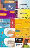 20 Cartes Prépayées AFRIQUE Lot1 - Autres - Afrique