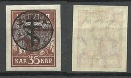 Russia LETTLAND Latvia 1919 Michel 22 Westarmee Western Army * - West Army