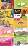 20 Cartes Prépayées AFRIQUE Lot2 - Autres - Afrique