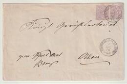 Wuerttemberg / 1876 / Mi. 45 MeF Auf Brief K1 STUTTGART (BERG) (BA59) - Wurttemberg