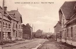 CPA - 62 - VITRY-EN-ARTOIS - Rue De L'Eglise - Cliché Peu Courant - Vitry En Artois