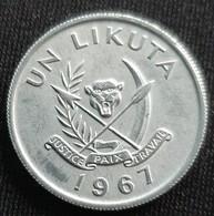 Congo 1 Likuta 1967 - Congo (Democratische Republiek 1964-70)