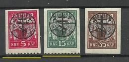 Russia LETTLAND Latvia 1919 Michel 20 - 22 Westarmee Western Army * Signed - West Army
