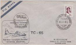 Argentina 1974 Antarctica / Base Aerea Vice Com. Marambio Ca 2 Ago 1974 Cover (47426) - Argentinien
