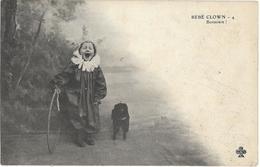 CIRQUE - BEBE CLOWN - BONSOARE !  Enfant Avec Cerceau Et Un Chien - PRECURSEUR - Cirque