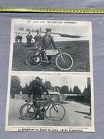 1903 GA CRITERIUM QUART DE LITRE MIGNARD MOTOCYCLETTE GIORGIA KNAPP LANFRANCHI PEUGEOT SARREBOURG - Collections